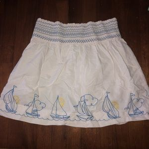 Lilly pulitzer sailboat skirt 5 sun white